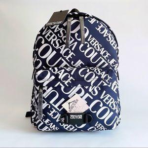 ⭕️ VERSACE JEANS Men's Backpack Blue Logo